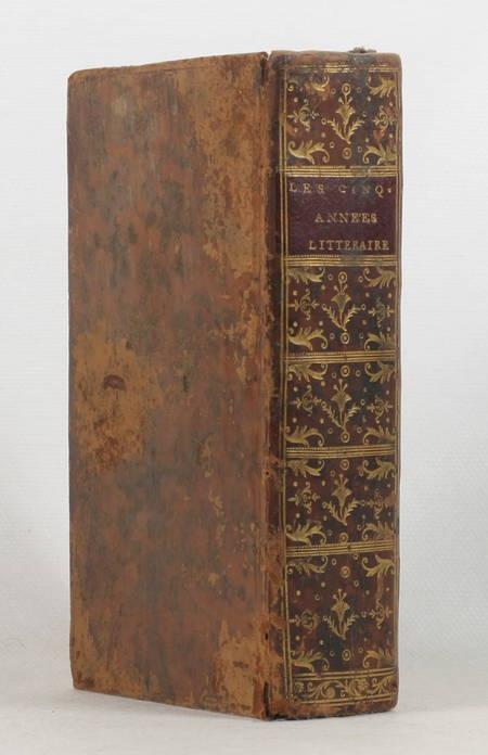 CLEMENT (M.). Les cinq années littéraires ou lettres de M. Clément sur les ouvrages de littérature qui ont parus dans les années 1748, 1749, 1750, 1751 & 1752