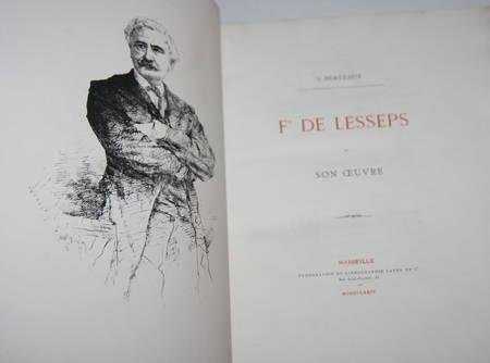 Berteaut - Lesseps et son oeuvre 1874 Portrait et gravures - Relié - RARE - Photo 1 - livre d'occasion
