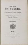 ANCELOT - Six mois en Russie - Lettres à Saintine - 1827 - Photo 0, livre rare du XIXe siècle