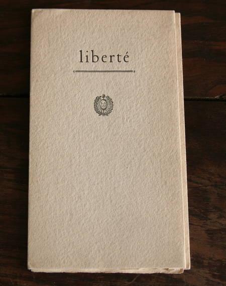 Ernst Maget - Liberté - Pierre Gaudin, 1968 - Frontispice, bois gravé - Photo 1 - livre du XXe siècle