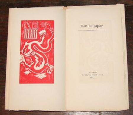 DELLUEGUE (Jean). Mort du papier, livre rare du XXe siècle