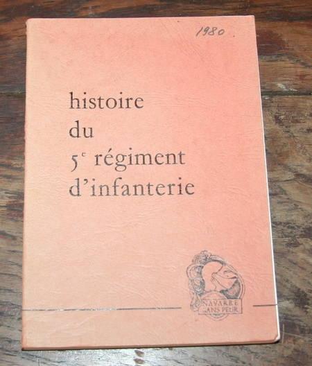 [Militaria] Colonel DOUCERET - Le cinquième régiment d'infanterie - 1978 - Photo 0 - livre rare