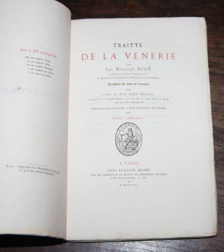 [CHASSE] Budé - Traitté de la VENERIE - Aubry, 1861 - EO - Photo 1 - livre d'occasion