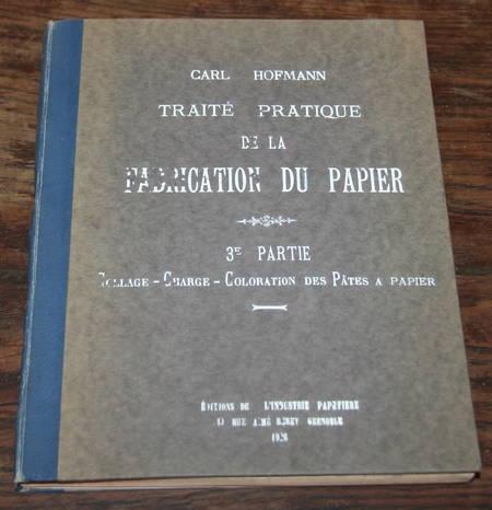 HOFMANN -Traité pratique de la fabrication du papier - 1926 - Photo 1 - livre du XXe siècle