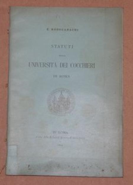 RODOCANACHI - Statuts des cochers de Rome - 1892 - Photo 1 - livre de bibliophilie