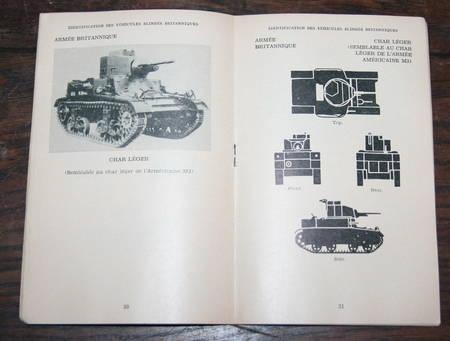 [Militaria Armes] Identification des véhicules blindés britanniques - 1943 - Photo 2 - livre de collection
