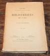 [Bibliographie] Franklin - Guide des bibliothèques de Paris - Welter, 1908 - Photo 0, livre rare du XXe siècle