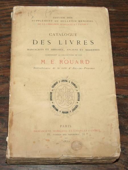 [Provence] Les livres de M. Rouard bibliothécaire d'Aix - 1879 - Photo 1 - livre de bibliophilie