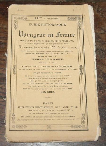 Guide pittoresque du voyageur en France - Dept de l Ain - Photo 1, livre rare du XIXe siècle