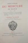 Indicateur du Mercure de France. 1672-1789 par Guigard - 1869 - Photo 0 - livre de collection