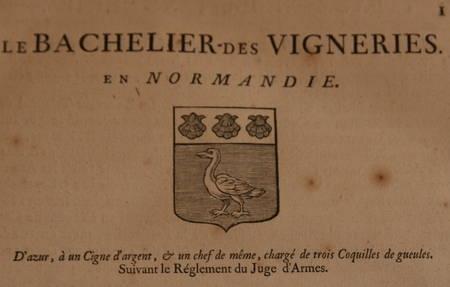 HOZIER (Louis Pierre d') et d'HOZIER DE SERIGNY. Généalogie de la famille Le Bachelier des Vigneries en Normandie