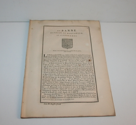 [Noblesse, Languedoc] Hozier - Généalogie de Banne d Avejan - 1741 - Photo 1, livre ancien du XVIIIe siècle
