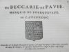 Hozier - Généalogie de Beccarie de Pavie - 1741 - Languedoc - Photo 0, livre ancien du XVIIIe siècle