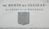 Hozier - Généalogie de Bonin du Cluseau - 1752 en Berry - Photo 0 - livre de bibliophilie