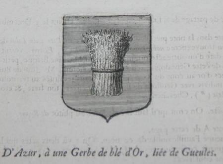 HOZIER (Louis Pierre d') et d'HOZIER DE SERIGNY. Généalogie de la famille de Braque, famille de Paris, répandue dans l'Isle de france, en Normandie, dans la Touraine, etc., livre ancien du XVIIIe siècle