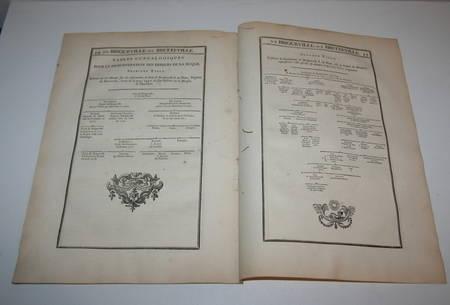 Hozier - Généalogie Briqueville-Bretteville - Normandie - 18e - Photo 2, livre ancien du XVIIIe siècle