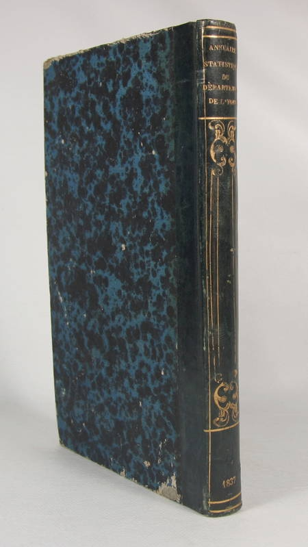 [Bourgogne] Annuaire statistique du département de l'Yonne - 1837 - Photo 0, livre rare du XIXe siècle