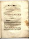 . Réplique pour M. Joseph Machon, propriétaire à Tournon, agissant comme acquéreur de M. Joseph Clément; contre les hospices civils de la ville de Romans; en présence de M. Louis-Prosper Degros, maire de la même ville; et de M. Jean-Joseph Clément, propriétaire à Chanos-Curson