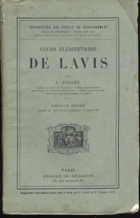 PILLET (J.). Cours élémentaire de lavis, livre rare du XIXe siècle