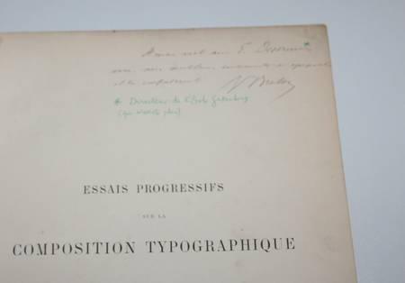 Breton - Essais progressifs sur la composition typographique des tableaux 1893 - Photo 1 - livre rare