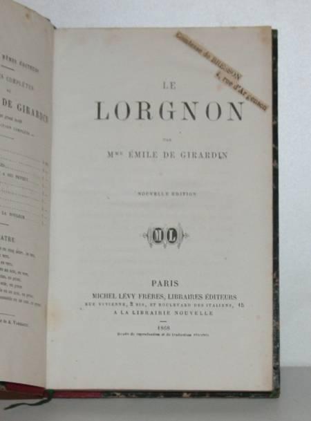 GIRARDIN (Emile de). Le Lorgnon, livre rare du XIXe siècle