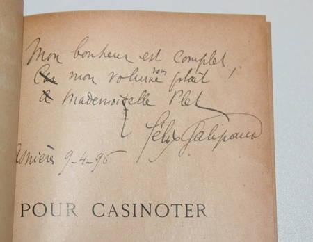 Félix GALIPAUX - Pour casinoter - 1895 - Relié - Envoi de l'auteur - Photo 0 - livre de collection