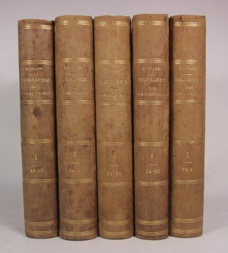 MICHAUD. Biographie des hommes vivants ou histoire par ordre alphabétique de la vie publique de tous les hommes qui se sont fait remarquer par leur actions ou leurs ecrits