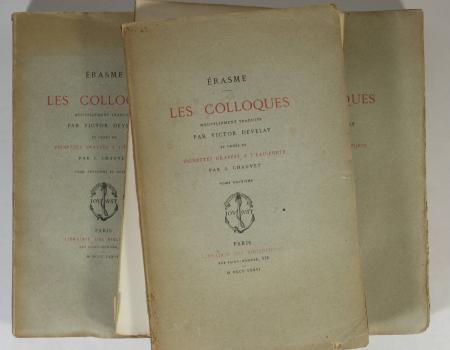 Erasme - Les colloques - 1875 - 3 volumes - Eaux fortes de Chauvet - Photo 1 - livre rare
