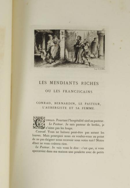 Erasme - Les colloques - 1875 - 3 volumes - Eaux fortes de Chauvet - Photo 2, livre rare du XIXe siècle