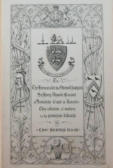 [Devises] A hand-book of mottoes borne by the nobility, gentry, cities ... 1860 - Photo 0 - livre de bibliophilie
