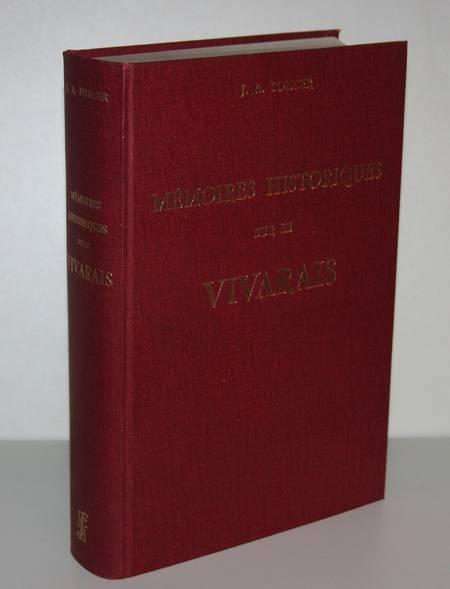 PONCER (Jean-Antoine). Mémoires historiques sur le Vivarais, livre rare du XXe siècle
