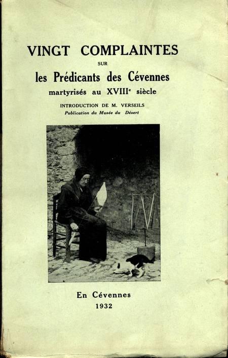 [Protestants] complaintes sur les prédicants des Cévennes martyrisés au 18e - Photo 0 - livre d'occasion
