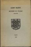 . Albin Mazon. Historien du Vivarais. 1828-1908