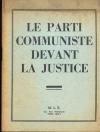 Le parti communiste devant la justice - M. L. S. - 1953 - Photo 0, livre rare du XXe siècle