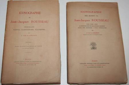 Girardin - Iconographie de Jean-Jacques Rousseau - 2 volumes - Envoi (1908-1910) - Photo 0 - livre de bibliophilie