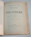 [Fac-simile du Manuscrit] SAMAIN (Charles) - Polyphème - Messein, 1921 - Photo 4, livre rare du XXe siècle
