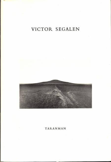 SEGALEN. Chine ou le pouvoir dans l'étendue, livre rare du XXe siècle