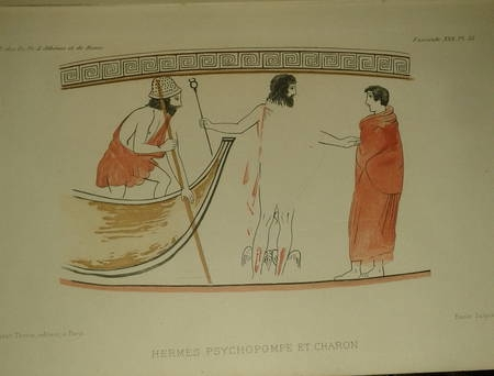 POTTIER (E.). Etude sur les Lécythes blancs attiques à représentations funéraires, livre rare du XIXe siècle