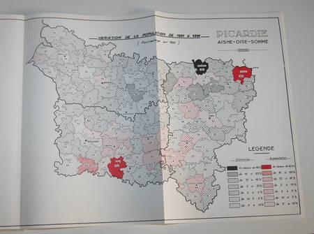 Atlas de la région Picardie - Cartes - Vers 1961 - Photo 0 - livre d'occasion