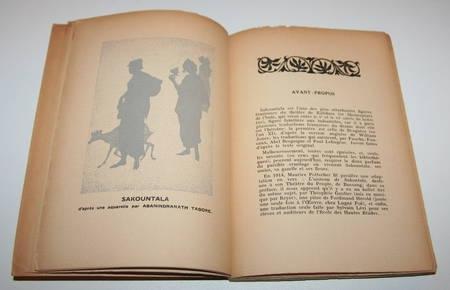[Littérature indienne] TAGORE - Sakountala - Nalaka - 1937 - Photo 2 - livre du XXe siècle