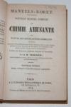 [Roret] Manuel complet de chimie amusante, nouvelles récréations chimiques 1854 - Photo 1 - livre du XIXe siècle
