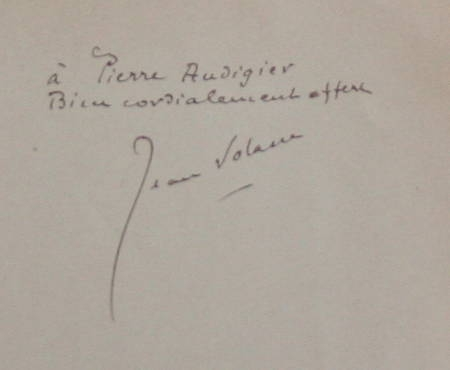 VOLANE (Jean). Terre vivaraise, livre rare du XXe siècle