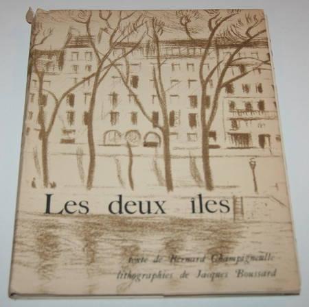 [Paris] CHAMPIGNEULLE - Les deux îles - Lithographies de Jacques Boussard - Photo 1, livre rare du XXe siècle