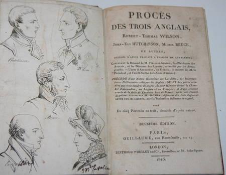 [Empire Restauration] Procès des trois anglais - Evasion de Lavalette - 1816 - Photo 1 - livre romantique