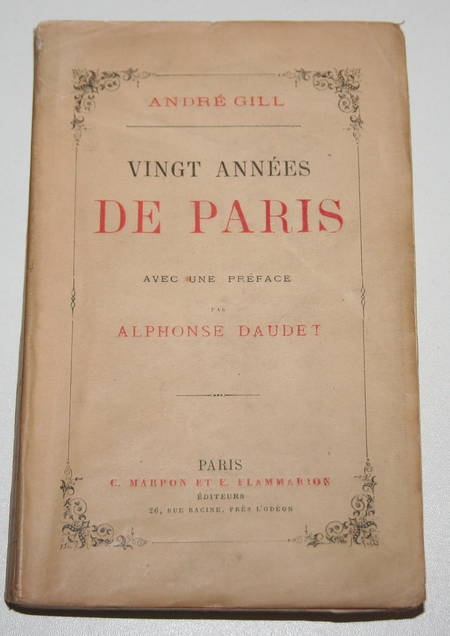 GILL - Vingt années de Paris Avec une préface de Alphonse Daudet 1883 - Gravures - Photo 2 - livre de collection
