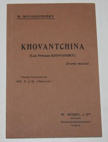 MOUSSORGSKY (M.). Khovantchina (Les princes Khovansky), livre rare du XXe siècle