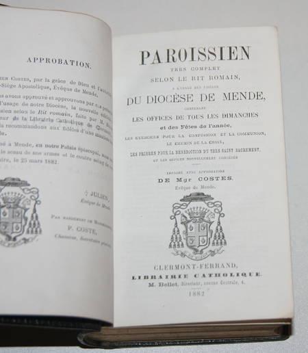[Mende Gévaudan]Paroissien du diocèse de Mende - 1882 - Photo 1 - livre rare