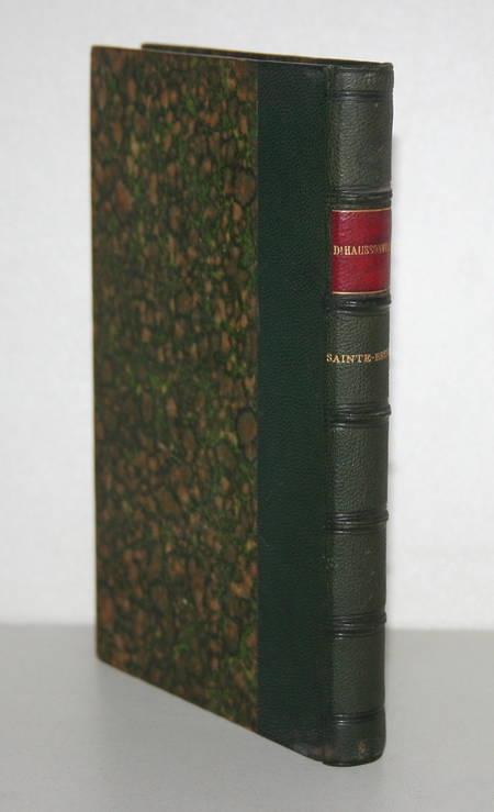 Haussonville - Sainte-Beuve, sa vie et ses oeuvres - 1875 - Photo 0 - livre de collection