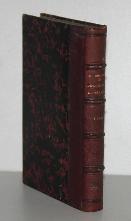 RIGAULT (Hippolyte). Conversations littéraires et morales