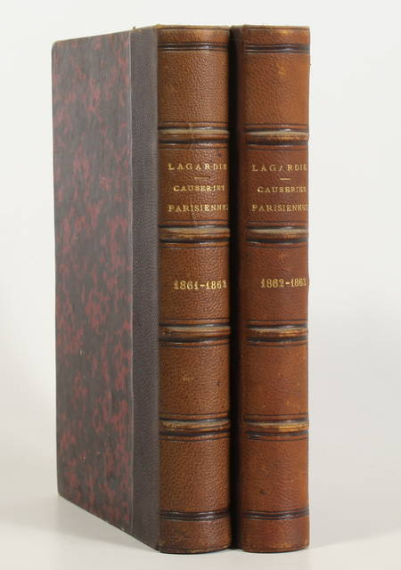 LAGARDIE (Horace de) - Causeries parisiennes - 1863-1866 - 2 volumes reliés - Photo 0 - livre d'occasion